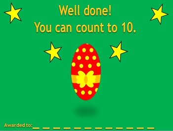 Counting to 10 Easter activity.