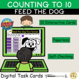 Counting to 10 Feed Me Dog Bones Game BOOM Cards™ Distance