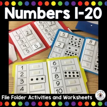 Counting to 10 File Folder Activity