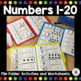 Numbers 1-20 File Folder Activities and Worksheets