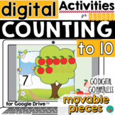 Counting to 10 - Google Classroom Activity DISTANCE LEARNING