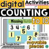 Counting to 10 Google Classroom Activity DISTANCE LEARNING