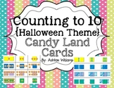Counting to 10 Halloween themed Candy Land Cards