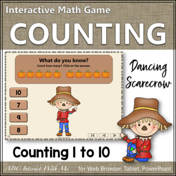 Counting to 10 Interactive Math Game ~ Number Sense Game {Dancing Scarecrow}