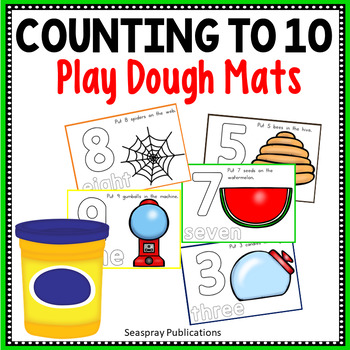 Counting to 10 Playdough Mats
