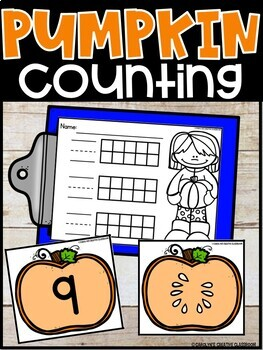 Counting to 10: Pumpkin Math Center FREEBIE