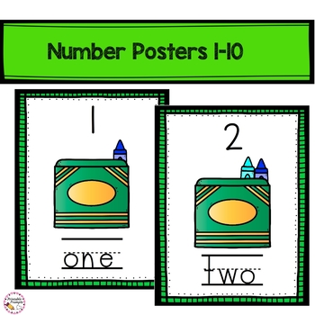 Counting to 10 Reader, Matching Game and Posters