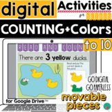 Counting to 10, Reading, Colors -Activity Google for Class