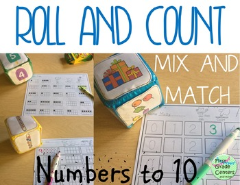Counting to 10 Roll and Count Math Centers