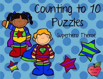 Counting to 10 Superhero Puzzles