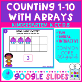 Counting to 10 With Arrays Google Slides Kindergarten Math