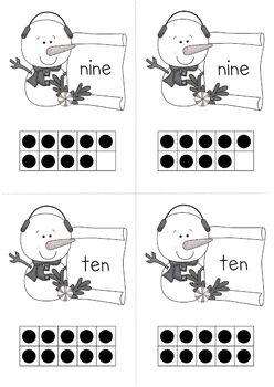 Counting to 10 With Snowmen {Freebie}