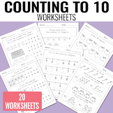 Counting to 10 Worksheets - Kindergarten