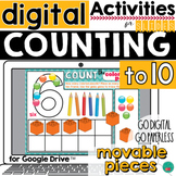 Counting  to 10 and Ten Frame for DISTANCE LEARNING