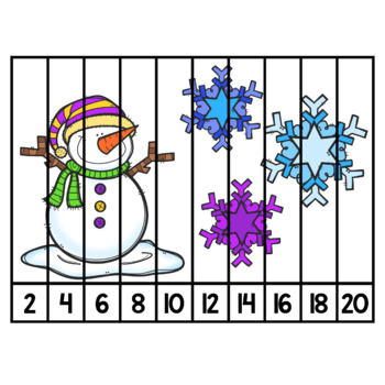Counting to 20 by 2's Puzzles