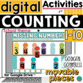 Counting to 10 - number line for Google Classroom Activiti