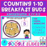 Counting to 10 with Breakfast Buds Google Slides Distance
