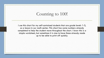 Counting to 100!