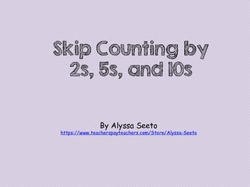 Counting by 1s, 2,s, 5s, and 10s to 100