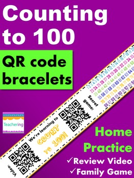 Counting to 100 Homework {Bracelet with review video & family game}