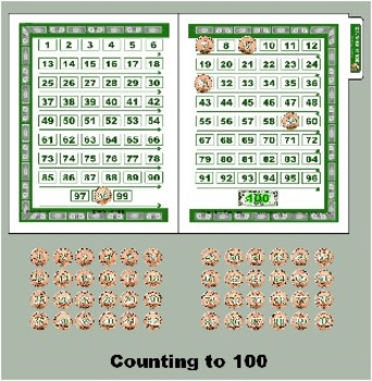 Counting to 100 - Counting Pennies - Preschool Kindergarten - Math Center Game