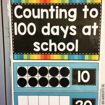 100 Days of School and Counting Beyond Wall Display Sign