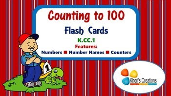 Counting to 100 Flash Cards (K.CC.1)