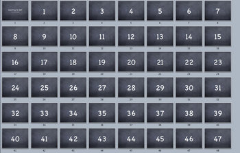 Counting to 100 Flashcard Slideshow Movie Blackboard