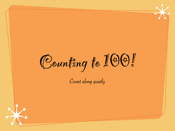 Counting to 100 Flashcard Slideshow Movie Fancy Style