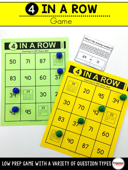 Counting to 100 Games and Centers Kindergarten