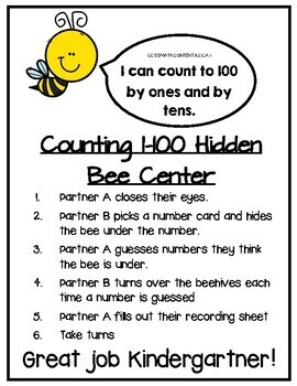 Counting to 100 Hidden Bee Center
