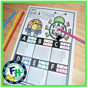 Counting to 100 Interactive Worksheets {Kindergarten & First Grade}