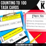 Counting to 100 - Kindergarten Math Task Cards