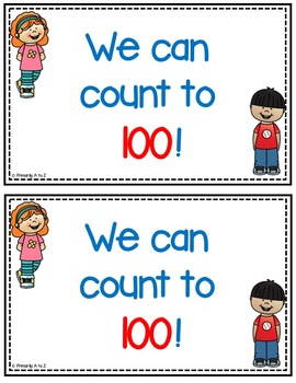 Counting to 100 {Student Certificates & Classroom Display}