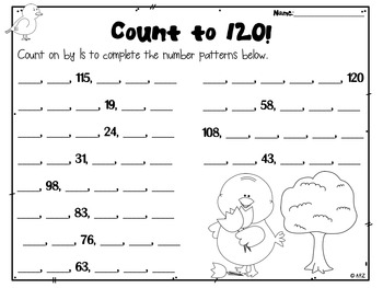 Counting on to 100 and 120 Math Centers and Activities