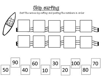 Counting to 100 and number recognition