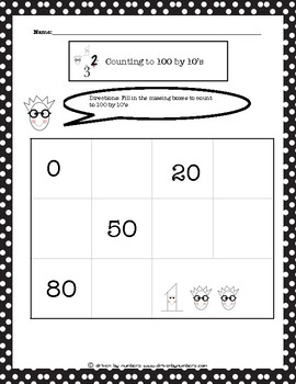Counting to 100 by 10's Worksheet