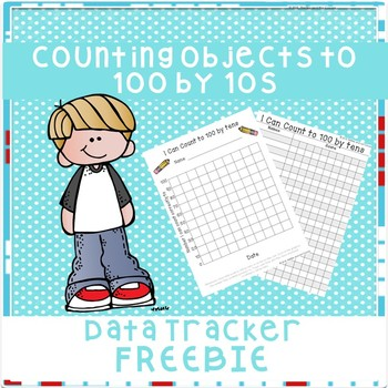Counting to 100 by 10s Data Tracker Freebie