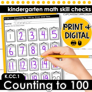 Counting to 100 by 1s and 10s | Kindergarten Math