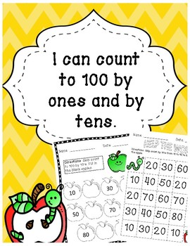 Counting to 100 by ones and by tens (K.CC.1)