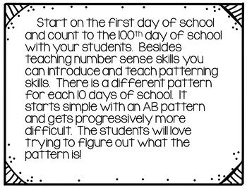Counting to 100 days of School (School Theme)
