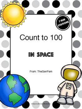 K.CC.A.1 Count to 100 Math Centers