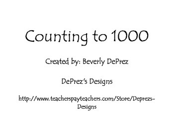 Counting to 1000