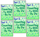 Counting to 1000 By 1, 2, 3, 4, 5, and 10 - Set 1 - 6 Work