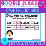 Counting to 1000 and Skip Counting by 5, 10, 100 Google Slides Distance Learning