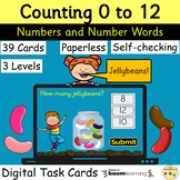 Counting to 12 Numbers Words BOOM Cards™ Digital Task Card