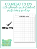 Counting to 120 Chart with Optional Quick Standard Proficiency Grading