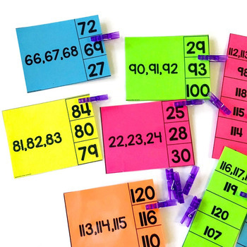 Counting to 120- Clip Cards