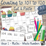 COUNTING TO 120 Cut and Paste Number Chart Worksheets