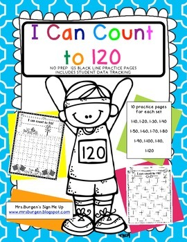 Counting to 120 Fill in the Numbers 1.NBT.1